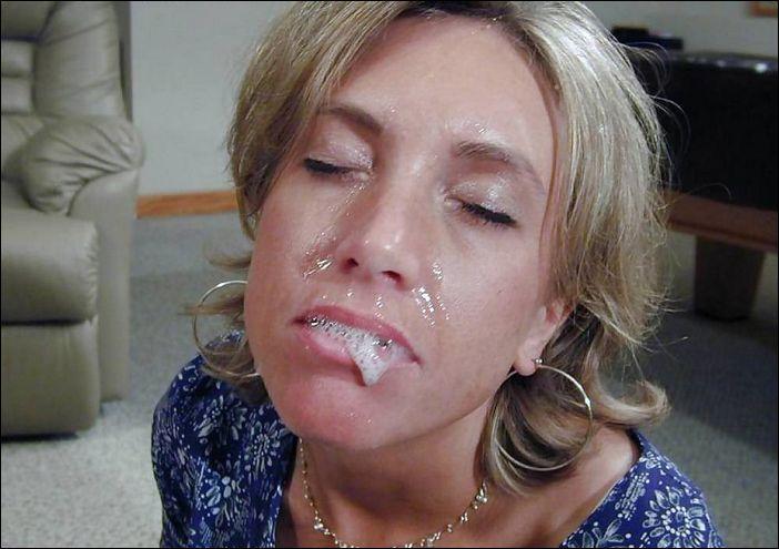 Фото как вытекает изо рта сперма